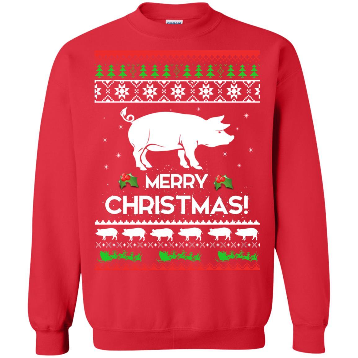 image 3880 - Merry Pigmas Christmas Pig Ugly Sweater, Shirt
