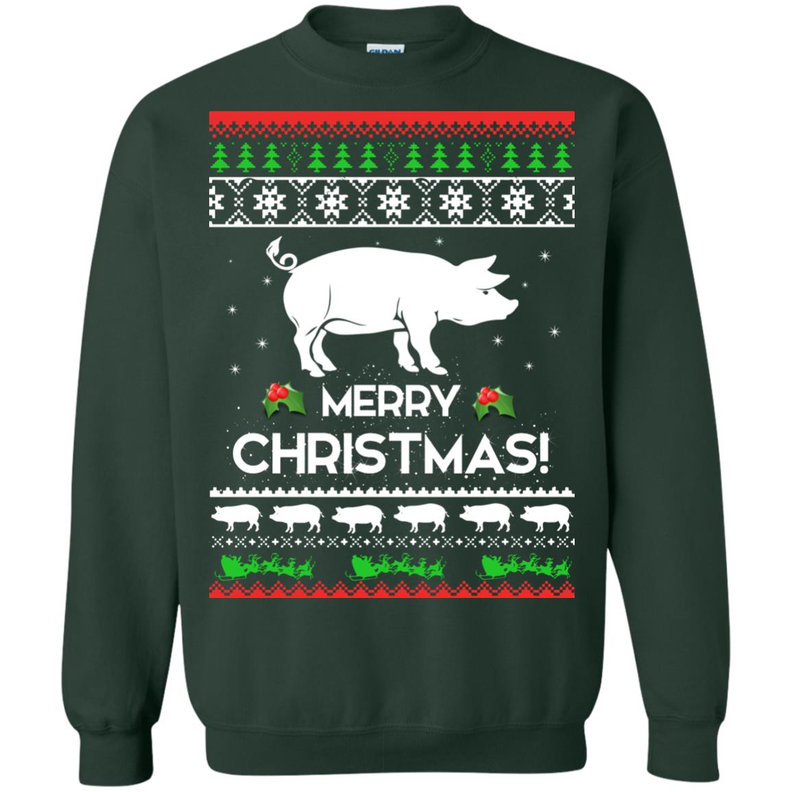 image 3881 - Merry Pigmas Christmas Pig Ugly Sweater, Shirt