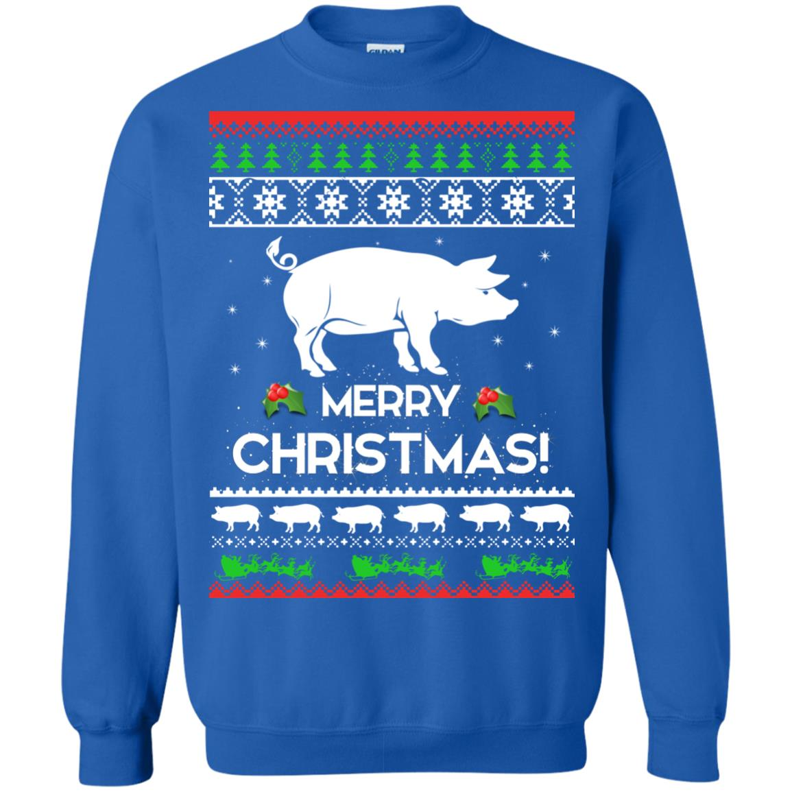 image 3882 - Merry Pigmas Christmas Pig Ugly Sweater, Shirt