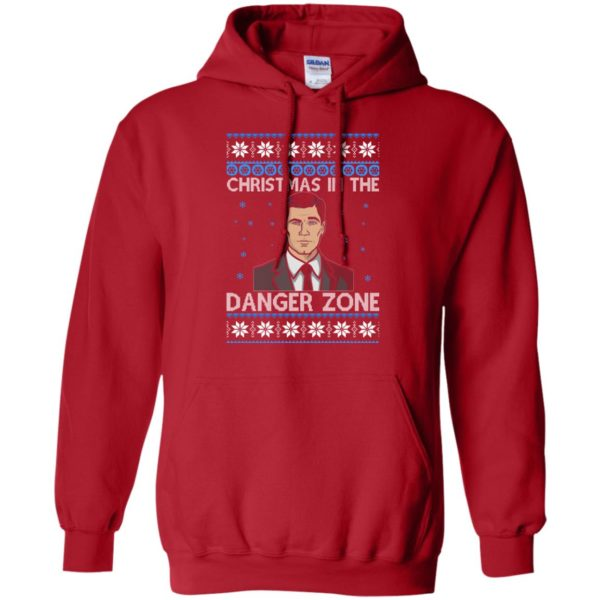 image 390 600x600 - Archer Christmas In The Danger Zone Ugly Sweater, Shirt, Long Sleeve