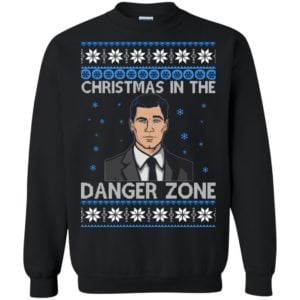 image 391 300x300 - Archer Christmas In The Danger Zone Ugly Sweater, Shirt, Long Sleeve