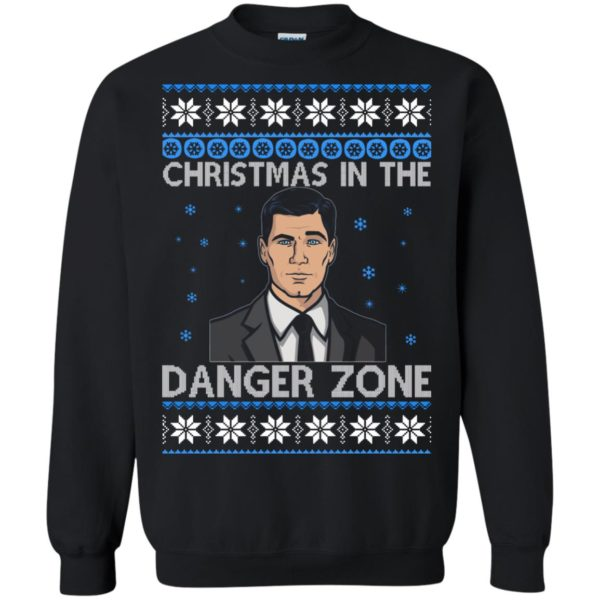 image 391 600x600 - Archer Christmas In The Danger Zone Ugly Sweater, Shirt, Long Sleeve