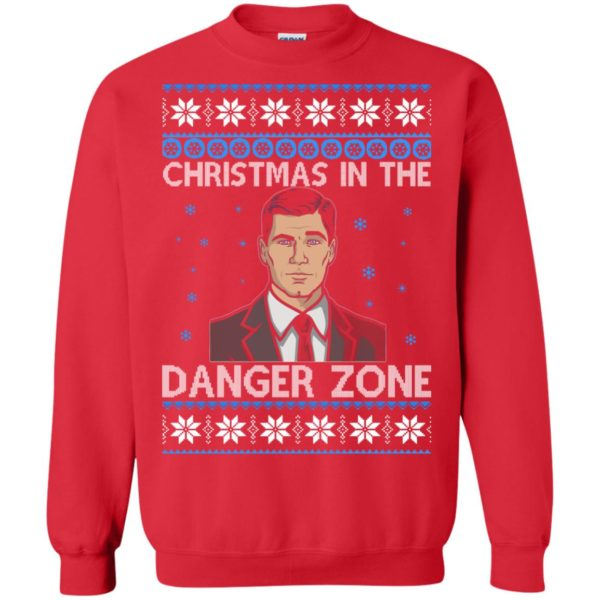 image 393 600x600 - Archer Christmas In The Danger Zone Ugly Sweater, Shirt, Long Sleeve