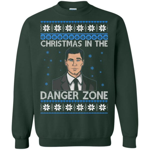 image 394 600x600 - Archer Christmas In The Danger Zone Ugly Sweater, Shirt, Long Sleeve
