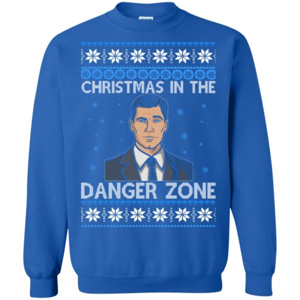 image 395 600x600 - Archer Christmas In The Danger Zone Ugly Sweater, Shirt, Long Sleeve