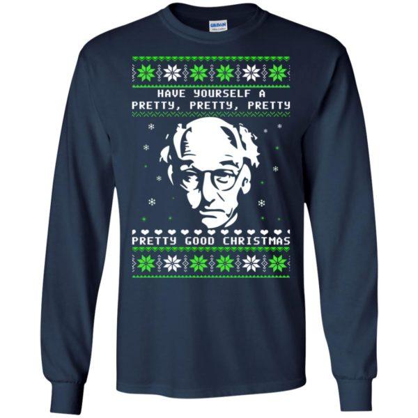 image 398 600x600 - Larry David Pretty Good Christmas Ugly Sweater