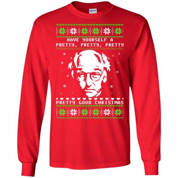 image 399 600x600 - Larry David Pretty Good Christmas Ugly Sweater