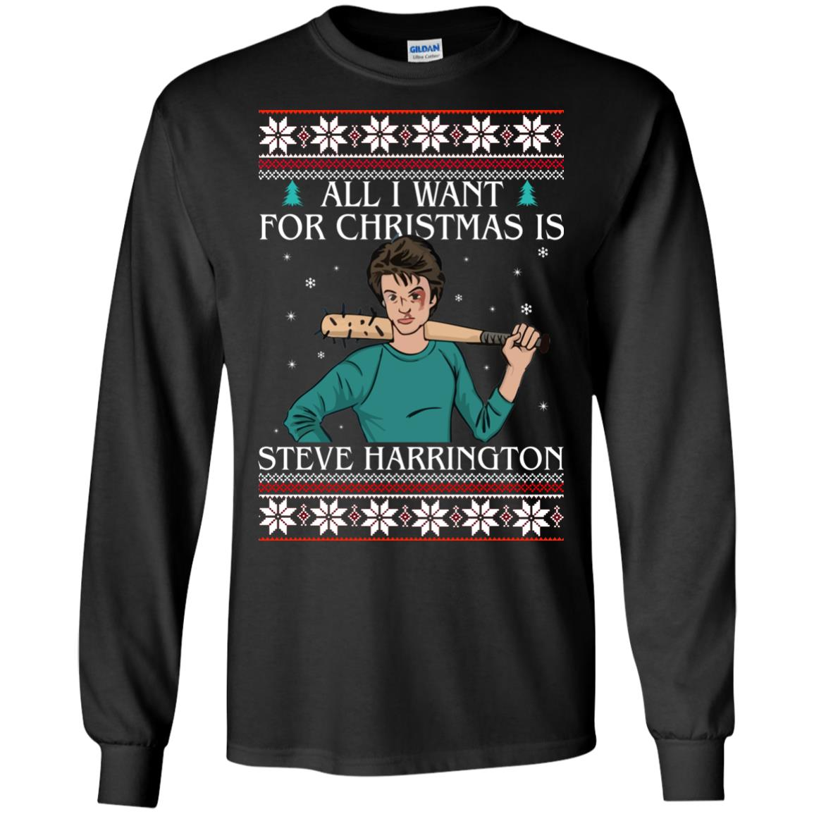 image 4028 - All I want for Christmas is Steve Harrington Ugly Sweater