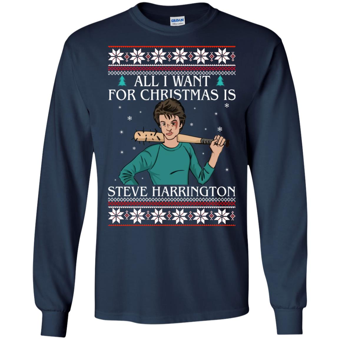 image 4030 - All I want for Christmas is Steve Harrington Ugly Sweater