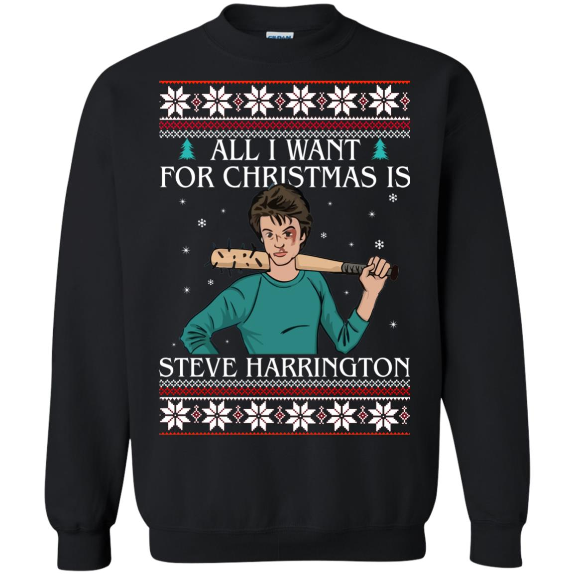 image 4034 - All I want for Christmas is Steve Harrington Ugly Sweater