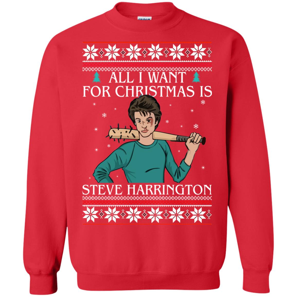 image 4036 - All I want for Christmas is Steve Harrington Ugly Sweater