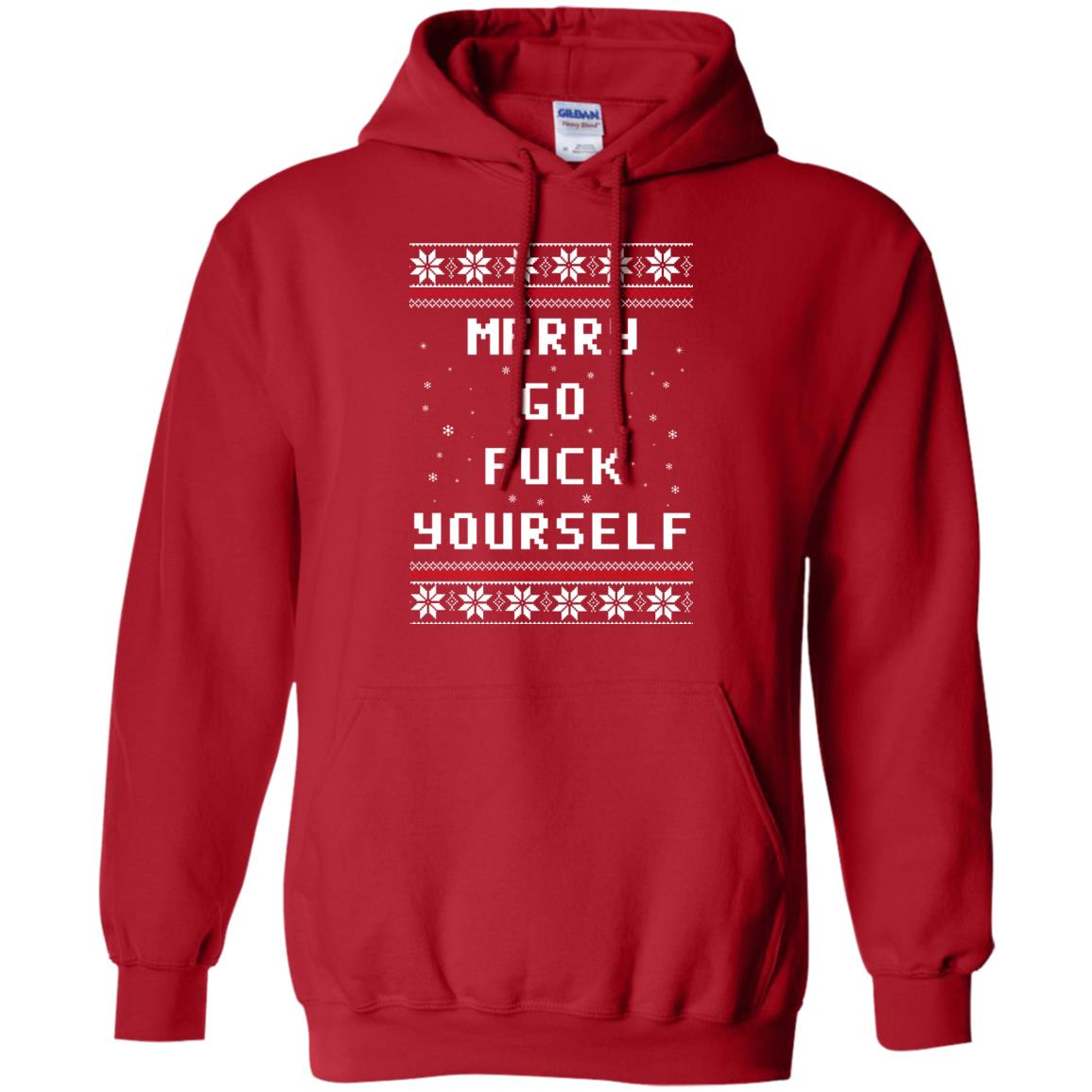 Merry Go Fuck Yourself Ugly Christmas Sweater, Hoodie - Rockatee