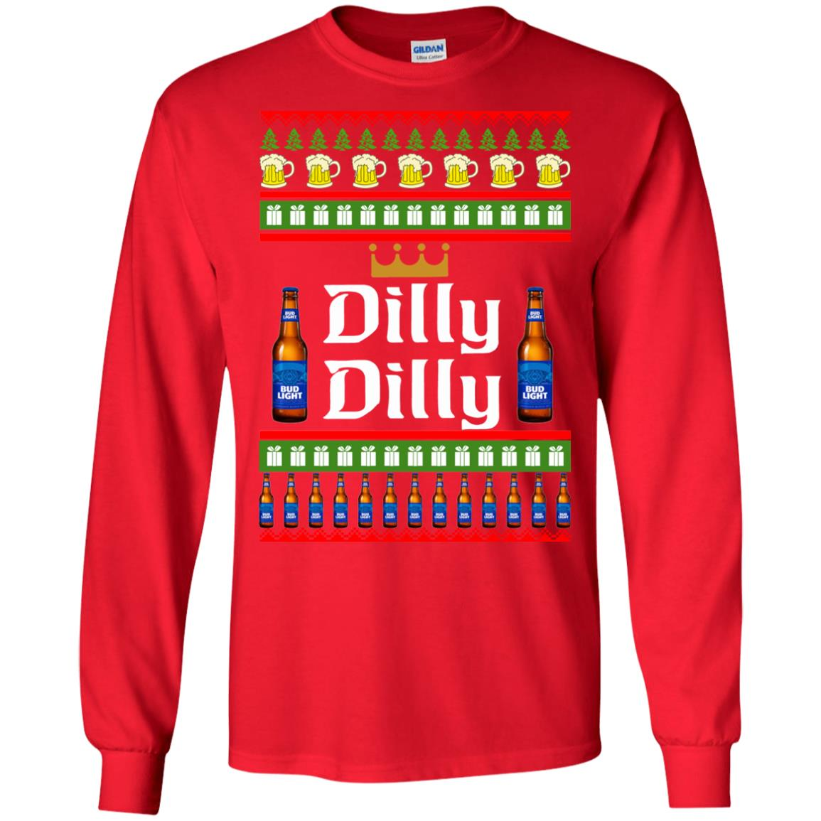 bud light dilly dilly ugly sweater christmas sweatshirts