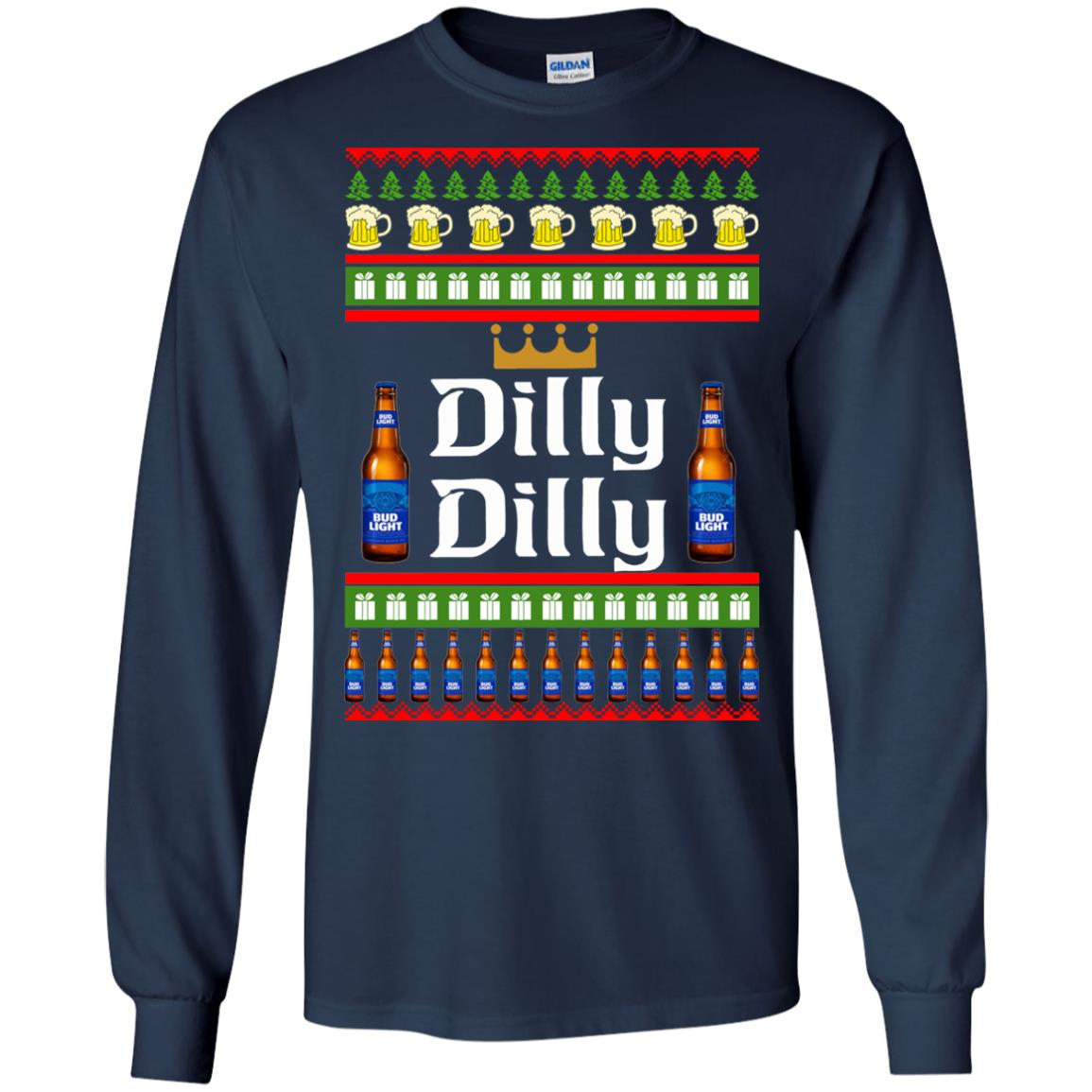 image 4232 - Bud Light: Dilly Dilly Ugly Sweater, Christmas Sweatshirts