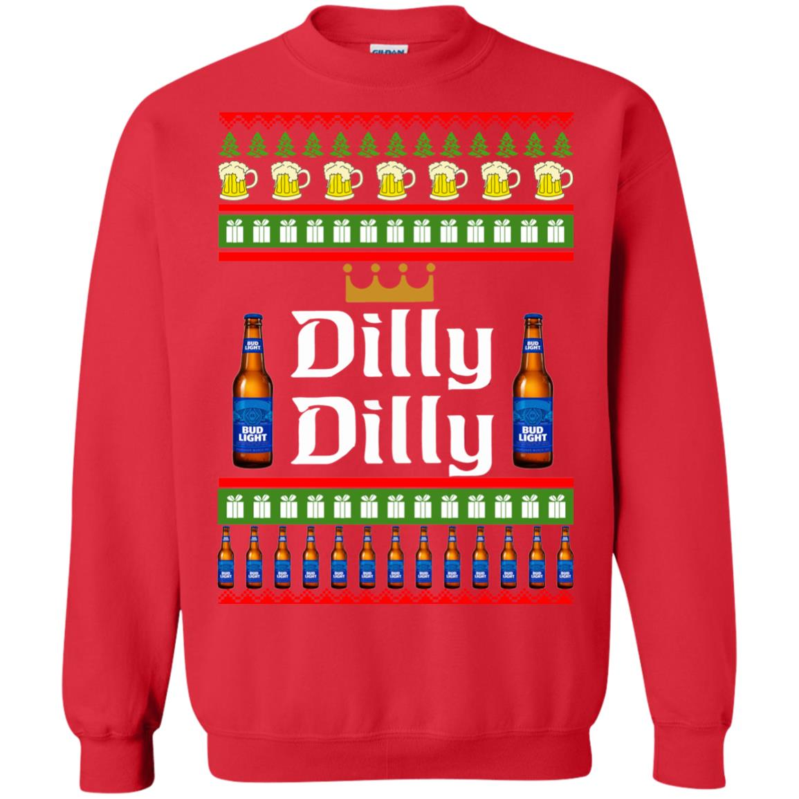 image 4238 - Bud Light: Dilly Dilly Ugly Sweater, Christmas Sweatshirts
