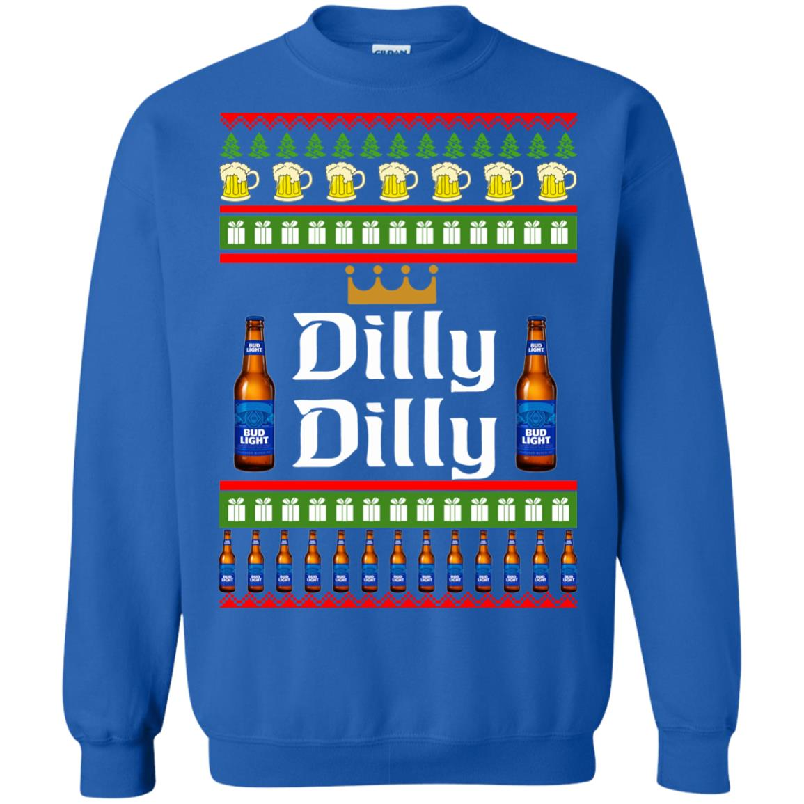 image 4240 - Bud Light: Dilly Dilly Ugly Sweater, Christmas Sweatshirts