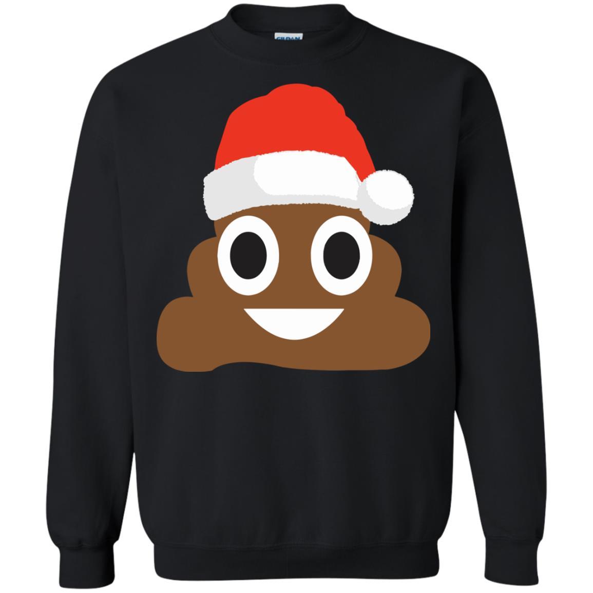 image 4364 - Funny Poop Emoji Christmas Ugly Sweatshirt, Hoodie
