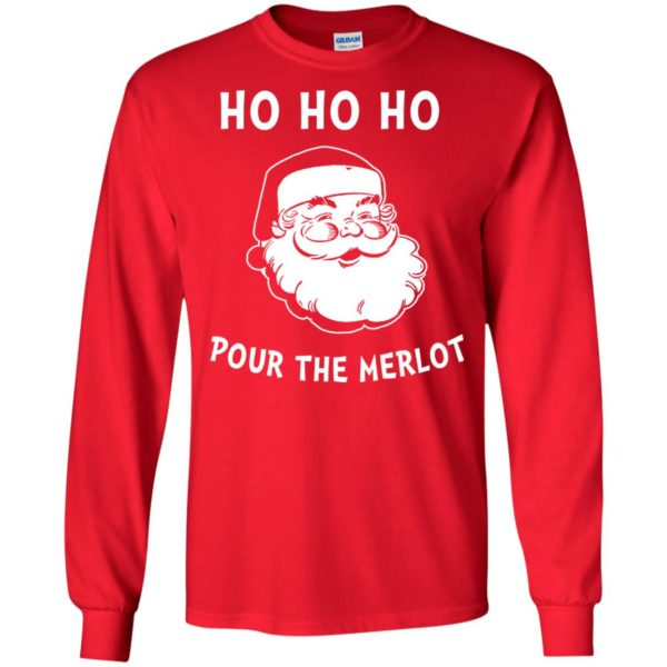 image 4455 600x600 - Santa Ho Ho Ho Pour The Merlot Christmas Sweater, Hoodie
