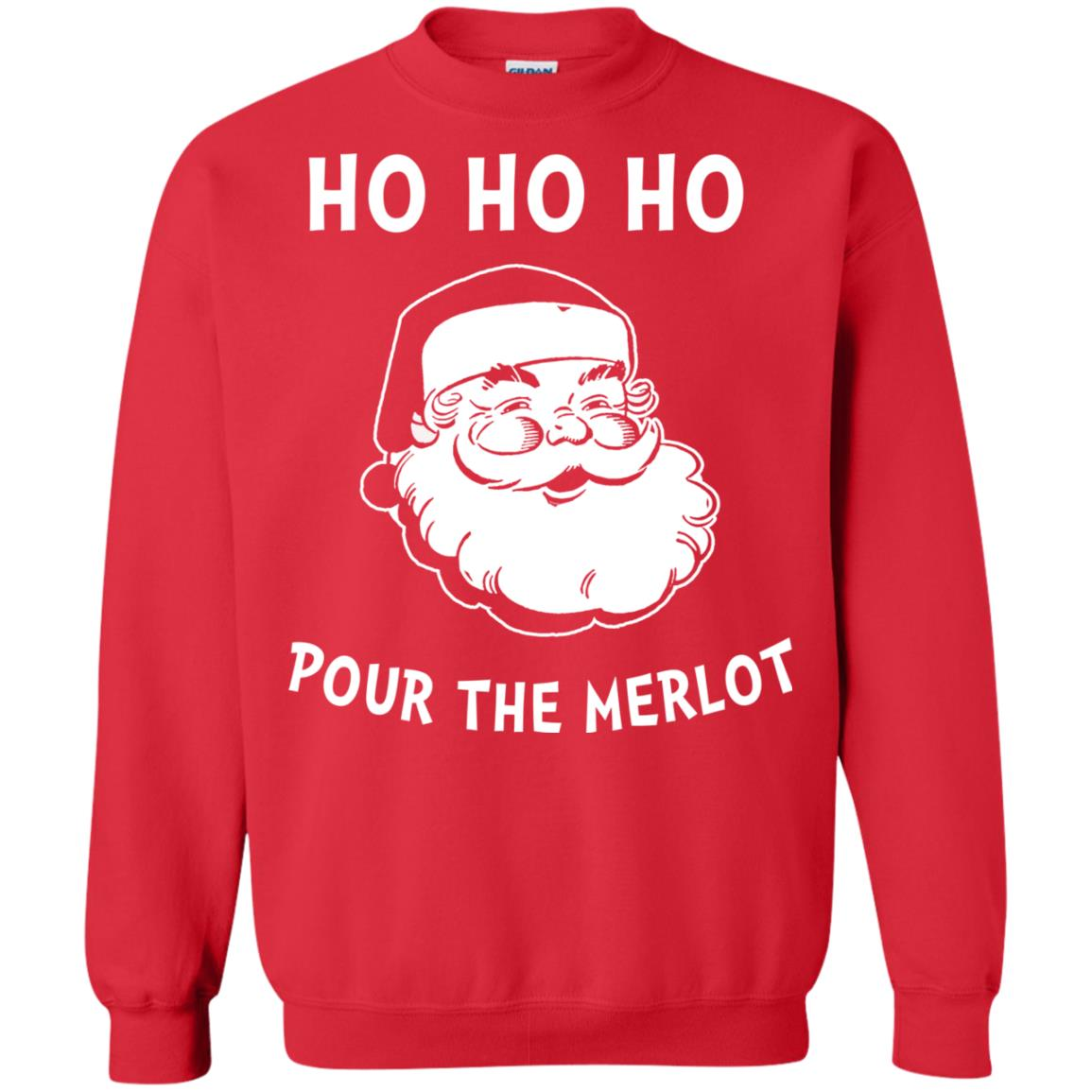 image 4462 - Santa Ho Ho Ho Pour The Merlot Christmas Sweater, Hoodie