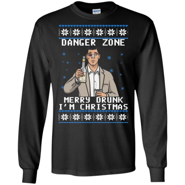 image 4623 600x600 - Archer: Danger Zone Merry Drunk I'm Christmas Ugly Sweater, Shirt