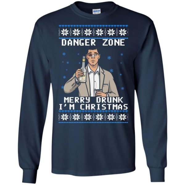 image 4624 600x600 - Archer: Danger Zone Merry Drunk I'm Christmas Ugly Sweater, Shirt