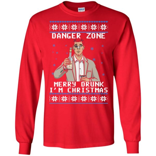 image 4625 600x600 - Archer: Danger Zone Merry Drunk I'm Christmas Ugly Sweater, Shirt