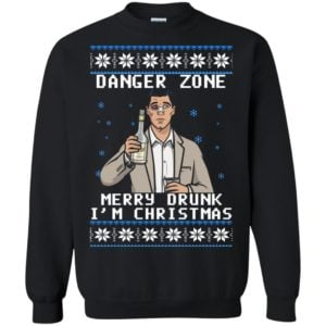 image 4629 300x300 - Archer: Danger Zone Merry Drunk I'm Christmas Ugly Sweater, Shirt