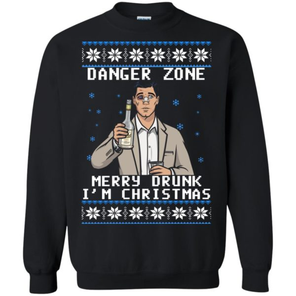 image 4629 600x600 - Archer: Danger Zone Merry Drunk I'm Christmas Ugly Sweater, Shirt