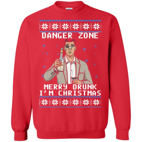 image 4631 600x600 - Archer: Danger Zone Merry Drunk I'm Christmas Ugly Sweater, Shirt