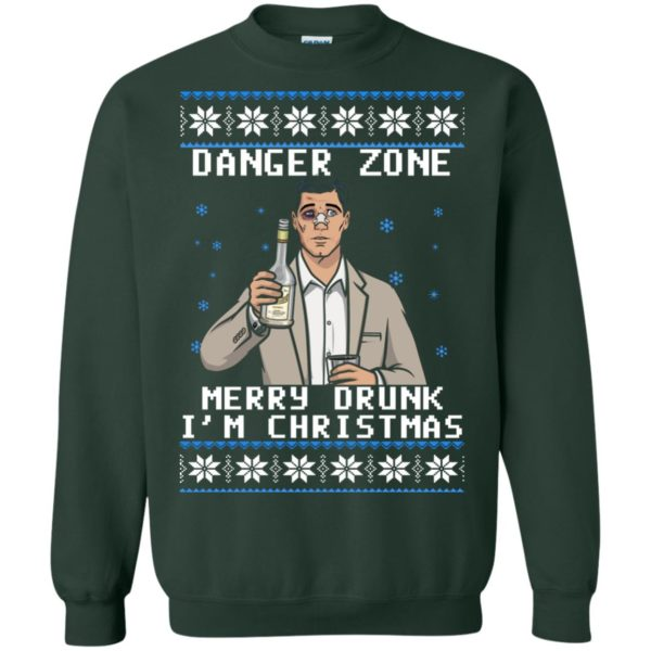 image 4632 600x600 - Archer: Danger Zone Merry Drunk I'm Christmas Ugly Sweater, Shirt