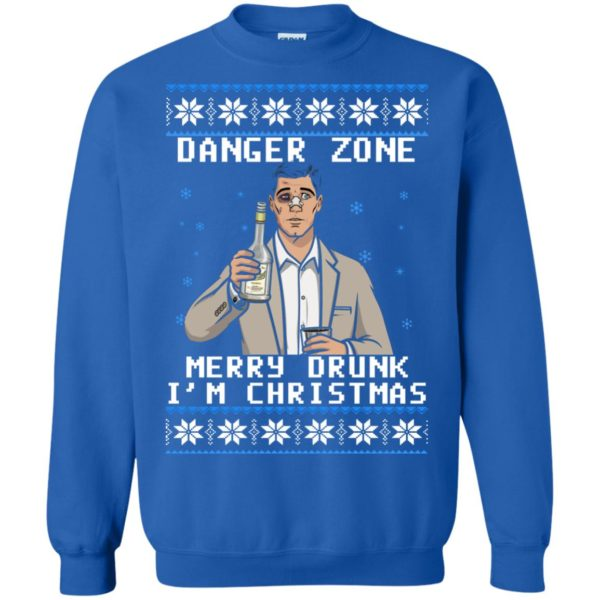 image 4633 600x600 - Archer: Danger Zone Merry Drunk I'm Christmas Ugly Sweater, Shirt