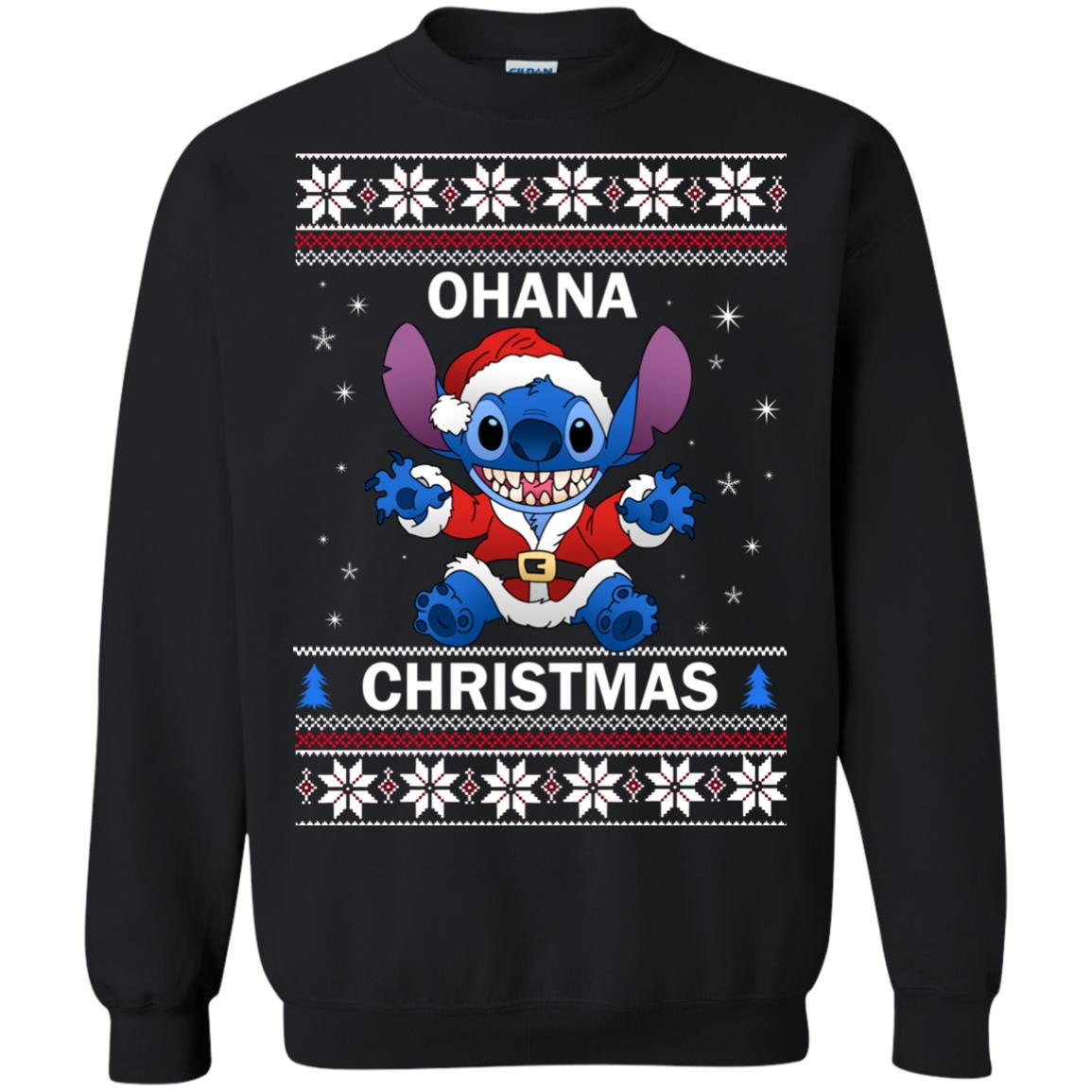 image 4845 - Stitch Ohana Christmas ugly sweater, shirt, long sleeve