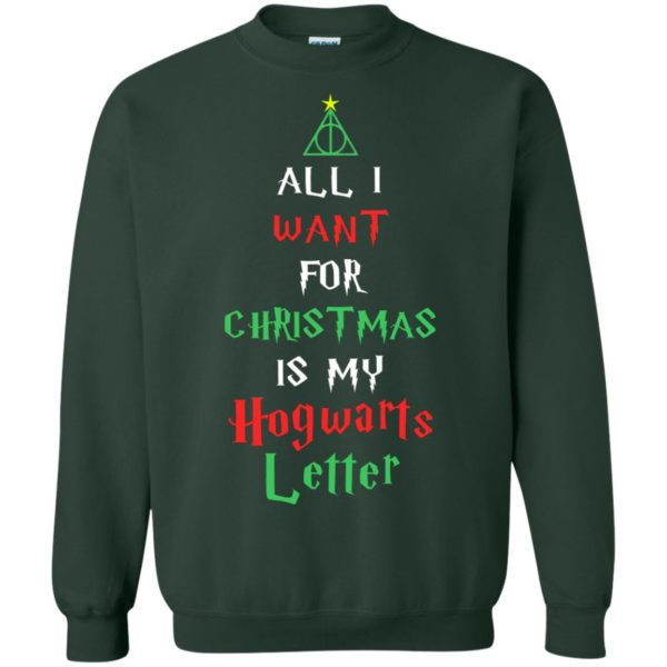 image 527 600x600 - All I Want For Christmas Is My Hogwarts Letter Sweater, Christmas Sweatshirts