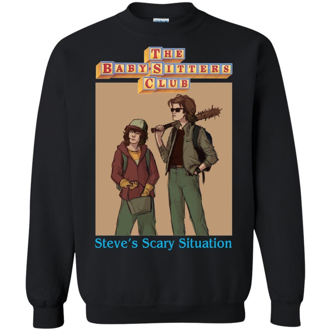 image 6064 - Steve and Dustin Shirt: Steve's Scary Situation