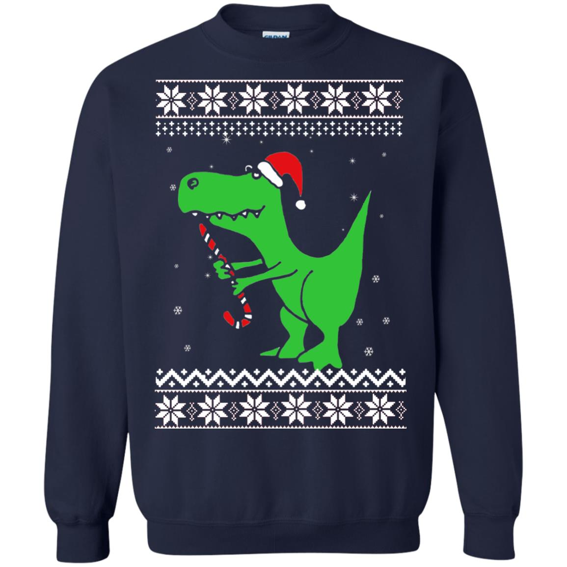 image 6097 - T-Rex Santa Christmas Sweater, Long Sleeve