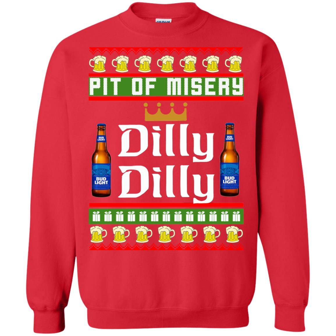 image 6386 - Pit Of Misery Dilly Dilly Ugly Sweater, Long Sleeve