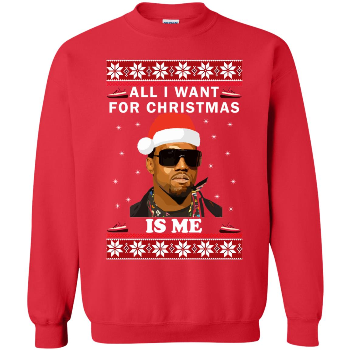 kanye all i want for christmas is me ugly sweater hoodie