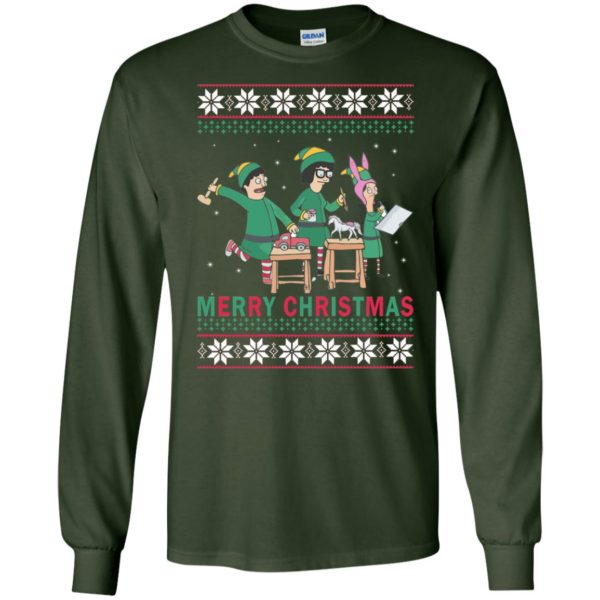 image 6571 600x600 - Bob's Burgers Family Elf Merry Christmas Ugly Sweater, Hoodie