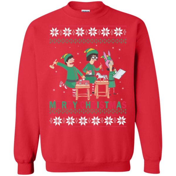 image 6578 600x600 - Bob's Burgers Family Elf Merry Christmas Ugly Sweater, Hoodie