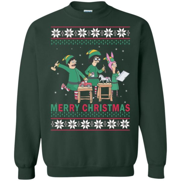 image 6579 600x600 - Bob's Burgers Family Elf Merry Christmas Ugly Sweater, Hoodie