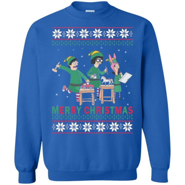 image 6580 600x600 - Bob's Burgers Family Elf Merry Christmas Ugly Sweater, Hoodie