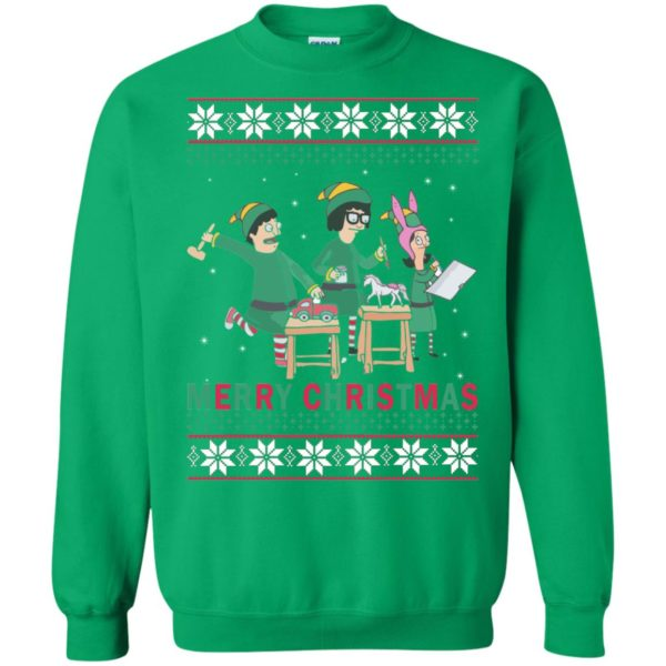 image 6581 600x600 - Bob's Burgers Family Elf Merry Christmas Ugly Sweater, Hoodie