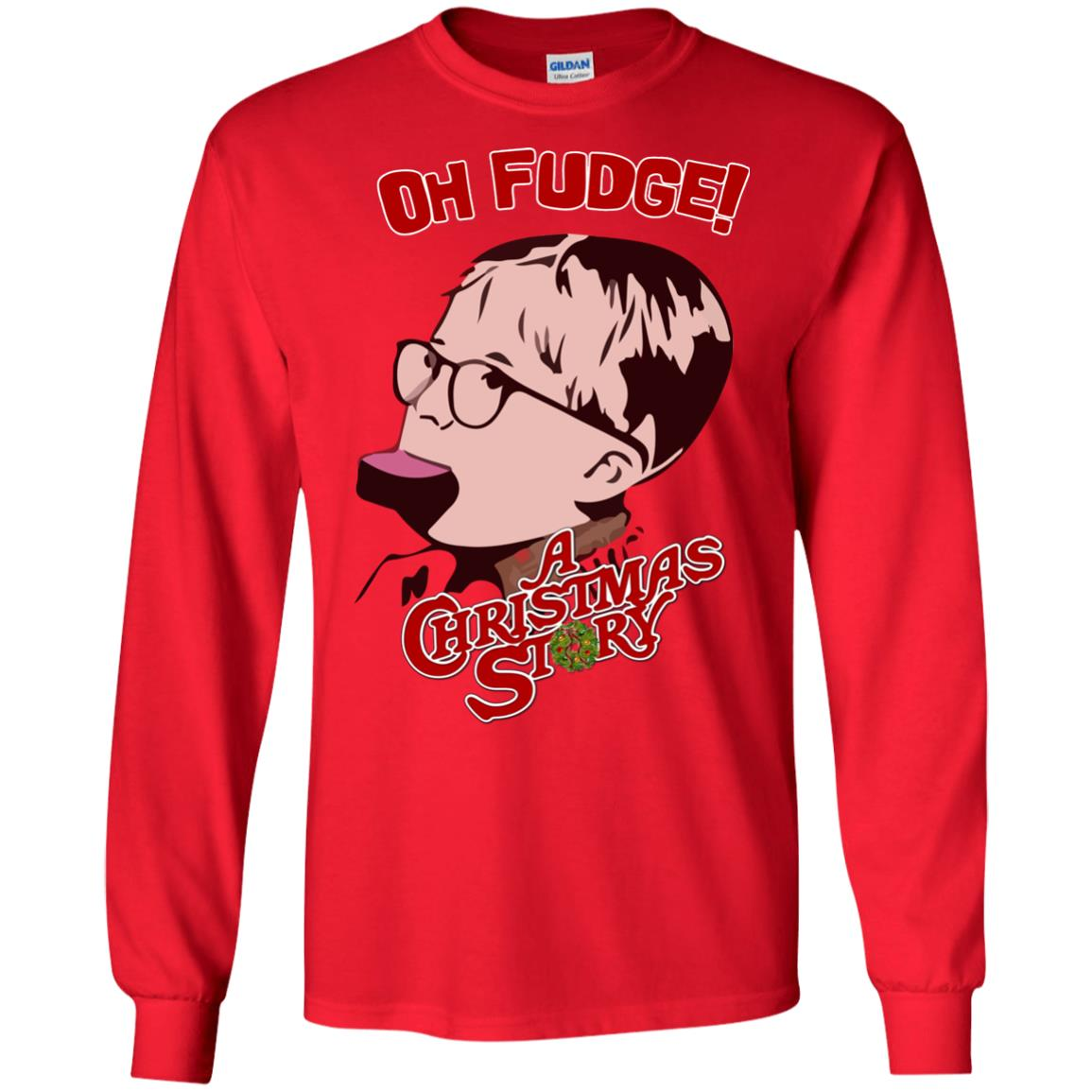 Oh Fudge A Christmas Story Sweater, Hoodie, Long Sleeve - Rockatee