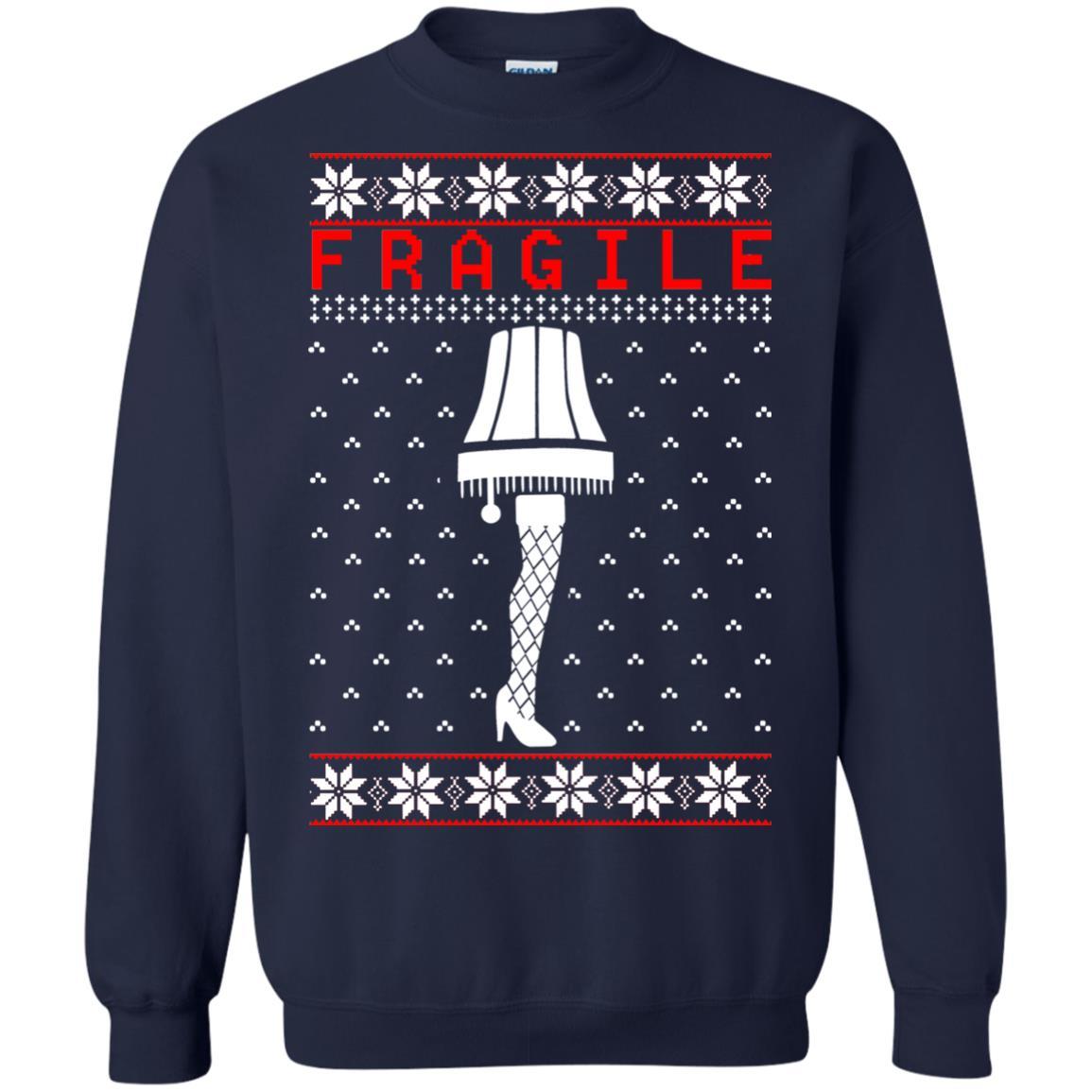 image 6758 - Christmas Story Fragile The Leg Lamp Ugly Sweater, Long Sleeve