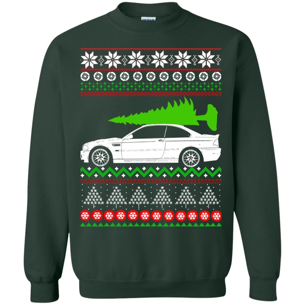 Bmw E46 M3 Ugly Christmas Sweater Hoodie Rockatee