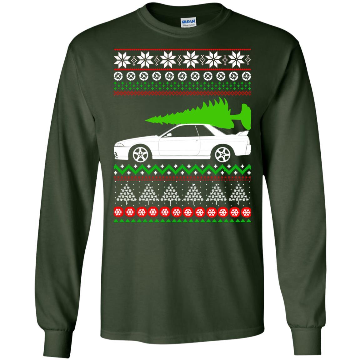 image 6812 - Nissan Skyline GTR R32 Godzilla Christmas Sweater, Hoodie