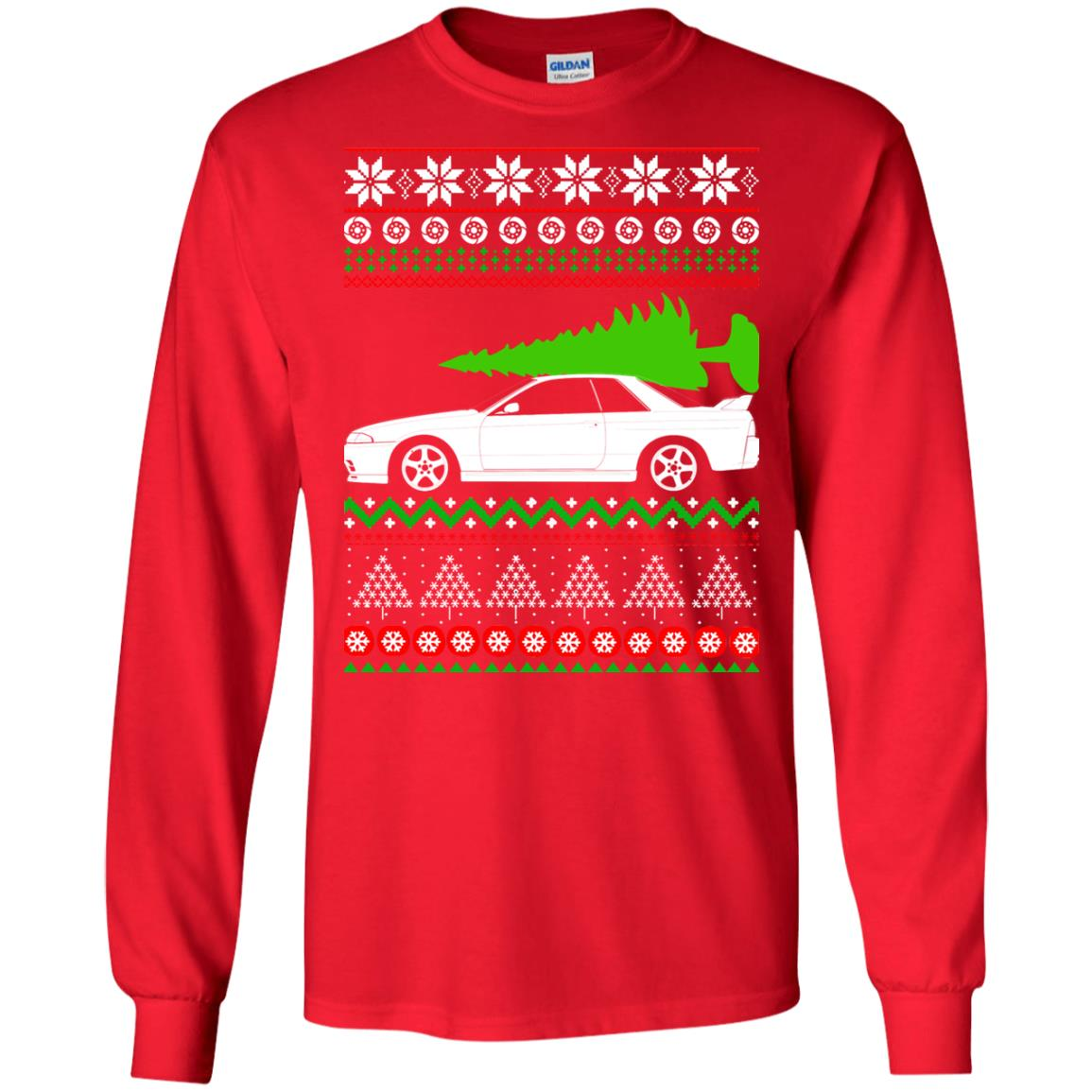 nissan skyline gtr r32 godzilla christmas sweater hoodie
