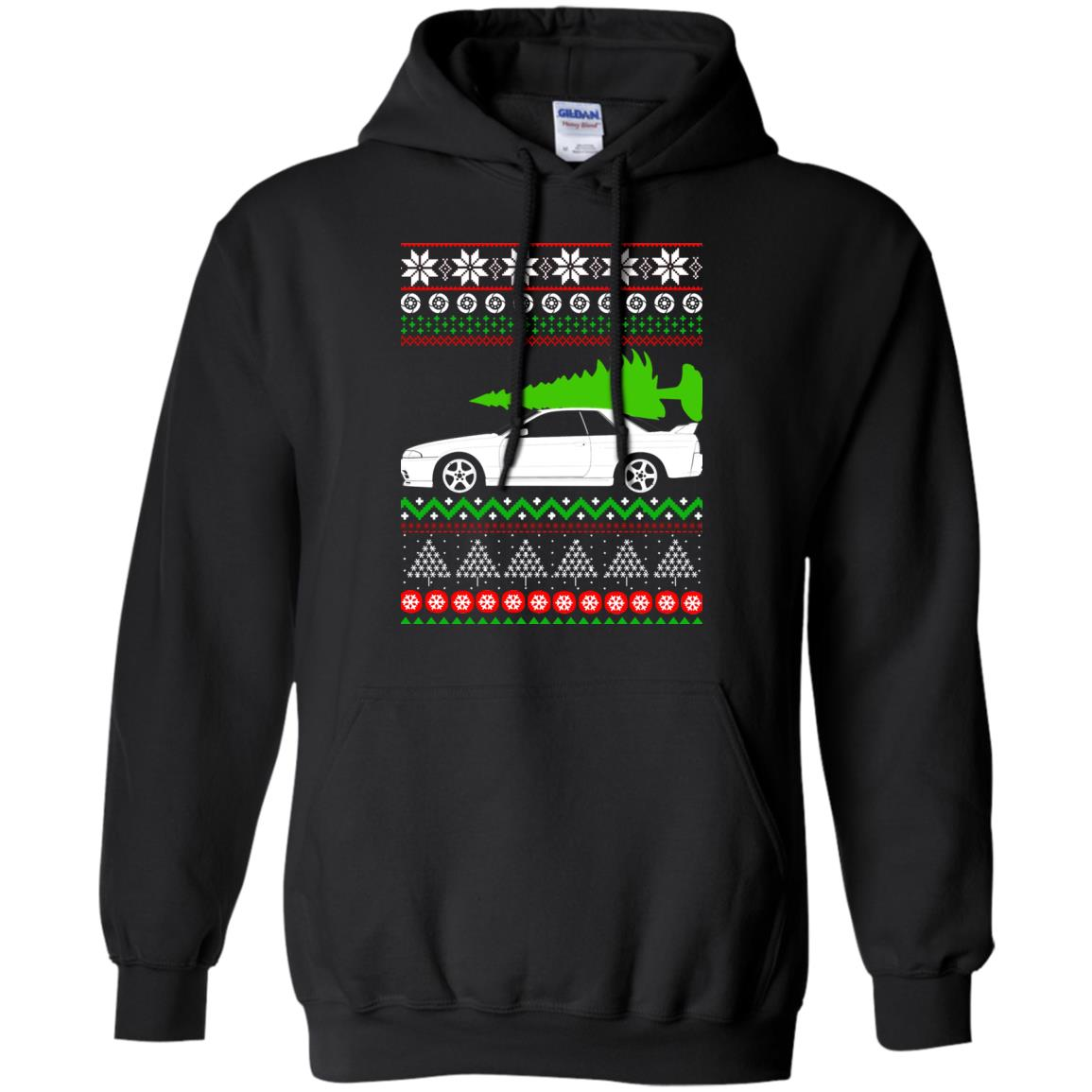 image 6815 - Nissan Skyline GTR R32 Godzilla Christmas Sweater, Hoodie