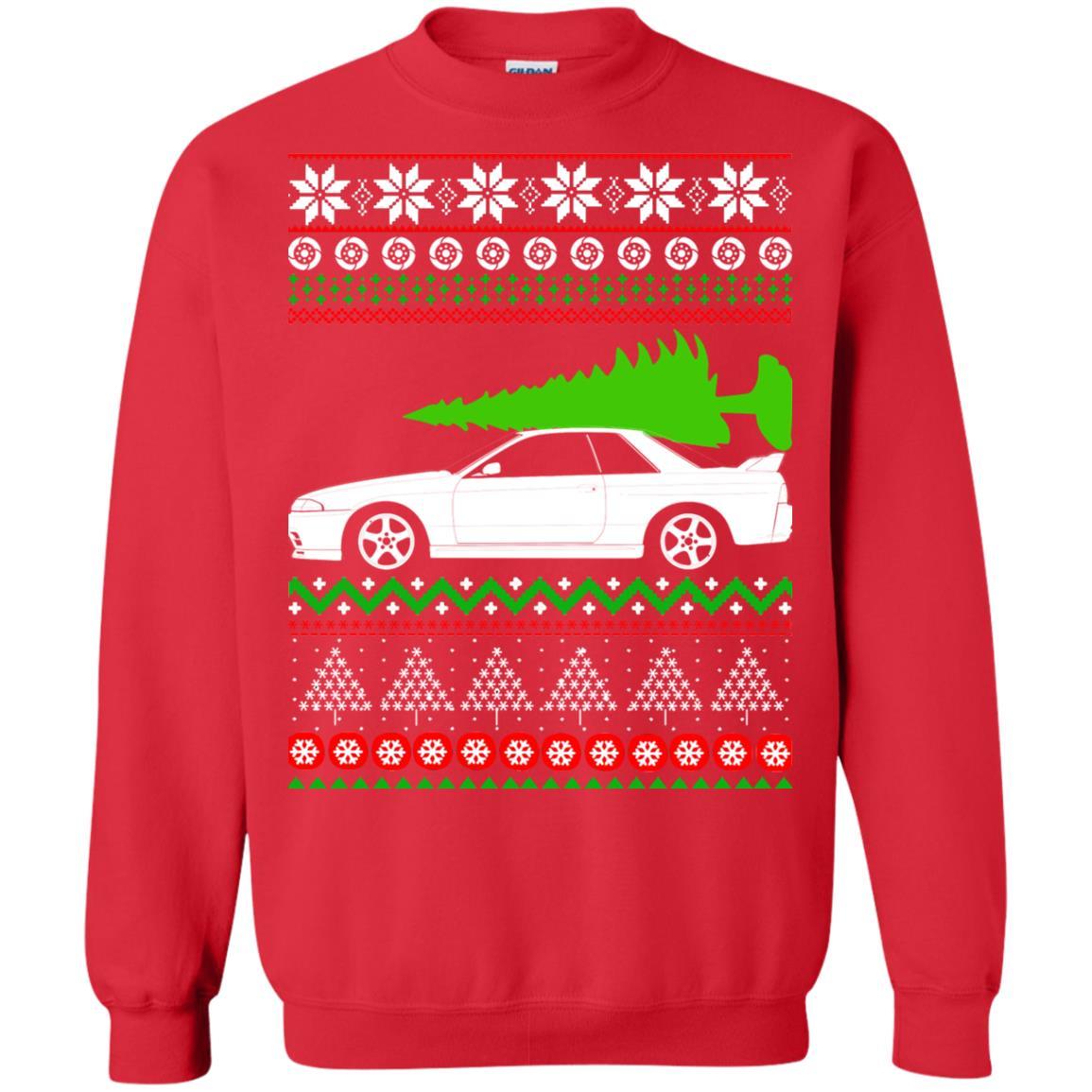 image 6819 - Nissan Skyline GTR R32 Godzilla Christmas Sweater, Hoodie