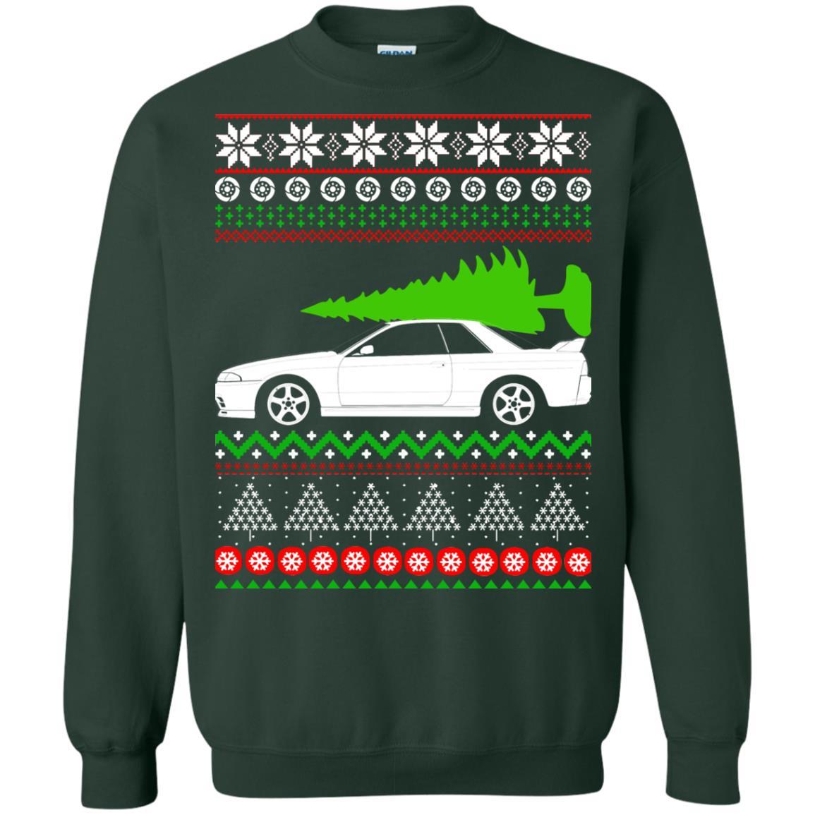 image 6820 - Nissan Skyline GTR R32 Godzilla Christmas Sweater, Hoodie